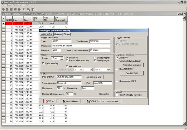 Software for COMET Monitoring Systems | Temperature Humidity