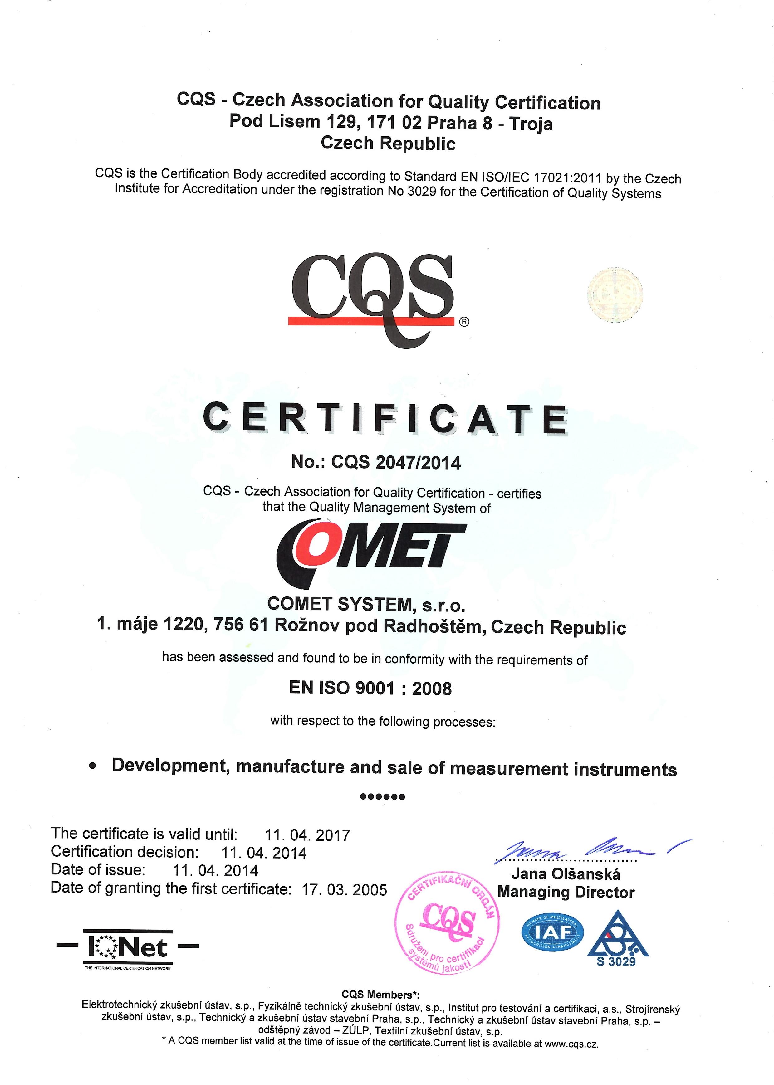 Successful Certification Audit