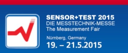 Visit us at SENSOR+TEST 2015