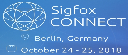 Sigfox Connect - October 2018 from 24th-25th in Berlin