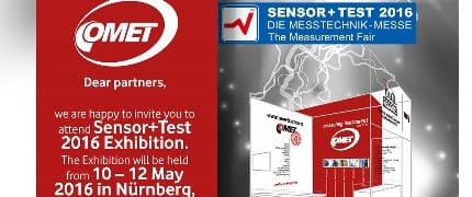 Visit us at SENSOR+TEST2016