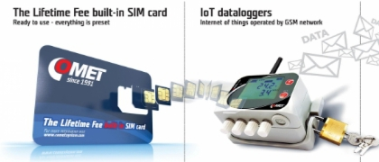 IoT dataloggers with The Lifetime Fee built-in SIM card