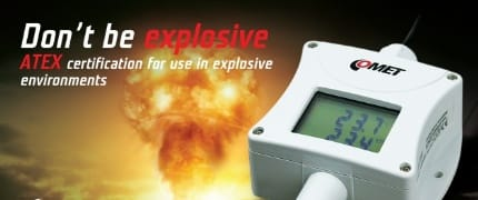 NEW - Programmable sensors with 4-20mA output with ATEX certification for use in explosive environments