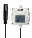 Industrial temperature, humidity, bar. pressure transmitter - RS232 output, cable 1 meter