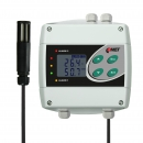 Temperature and humidity regulator with 230Vac/8A relays, cable 1 meter