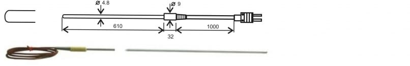"GT1150 thermocouple ""K"" insertion probe"