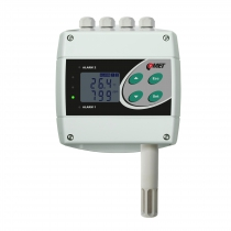 Temperature, humidity, CO2 transmitter with two relay and RS485 outputs