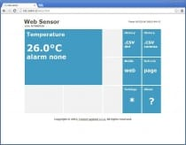 {WebSensor with PoE - remote thermometer with Ethernet interface}