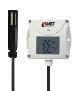 Web sensor - remote thermometer hygrometer with Ethernet interface, cable 1 meter. Weather sensor for environment monitoring.
